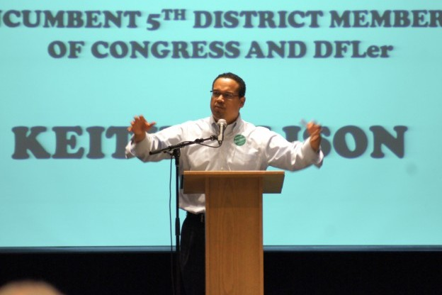 Keith Ellison at the MN-5 Convention