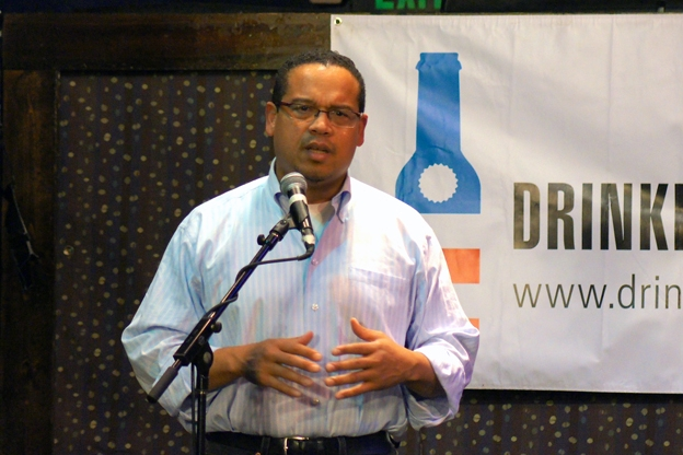 Keith Ellison at Drinking Liberally