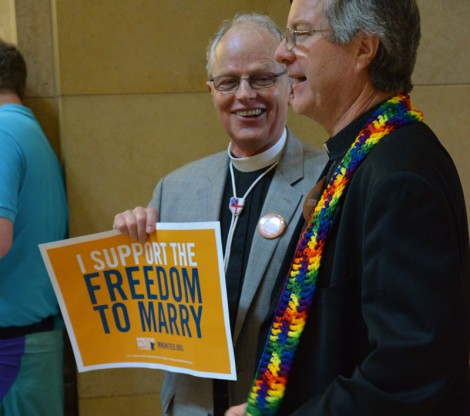 a priest and a minister walk into the capitol