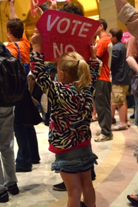 youngest protester