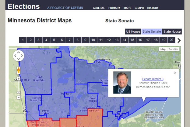 MN Elections Info site Maps page
