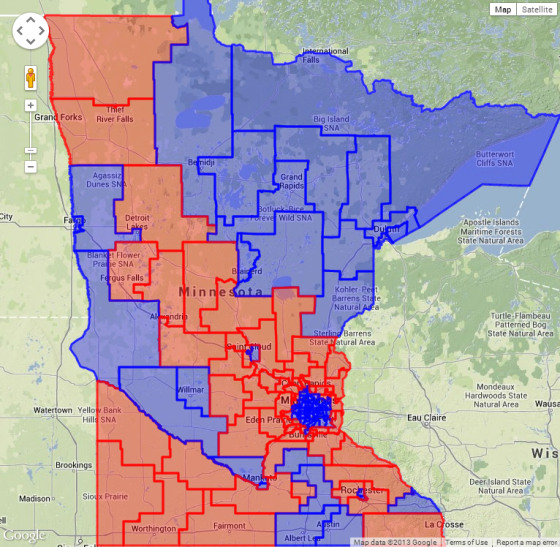 MN State House District Map