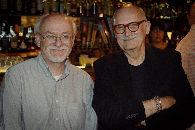 two cartoonists walk into a bar small