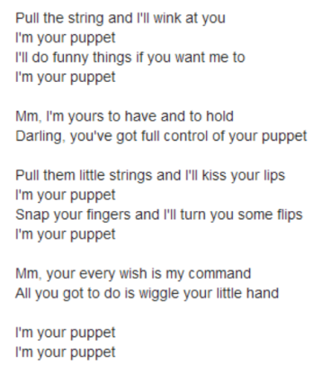 I'm your puppet