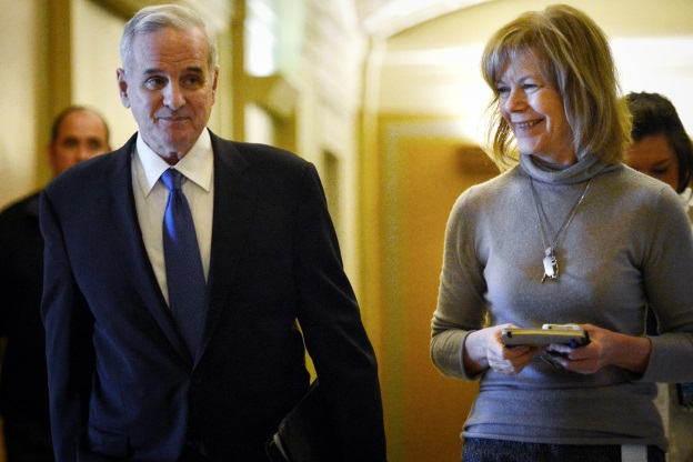 Mark Dayton and Tina Flint-Smith
