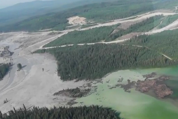 The former Mount Polley tailings dam