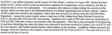 language from Evavold warrant