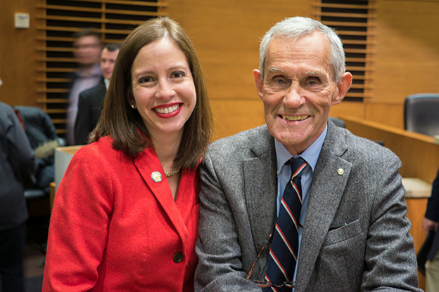 Sen. Melisa Franzen & Rep. Ron Erhardt | photo by the author