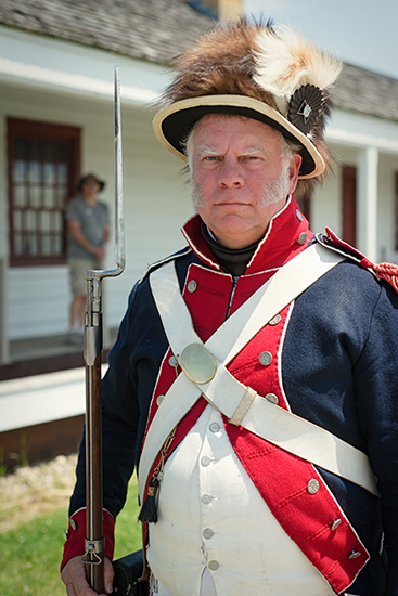 Rick Magee portrays a soldier in the 1805 Zebulon Pike expedition.