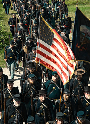 Soldiers departed for the Civil War from Ft. Snelling; they also returned there.