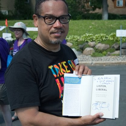Keith Ellison with Listen, Liberal inscribed by Thomas Frank