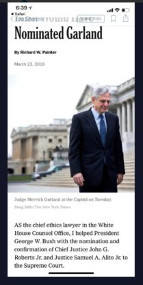 Painter advocates for Garland hearing
