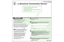 2018 American Community Survey Form